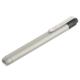 LEDペンライト 白色LED 単4×2本 シルバー [品番]07-8941