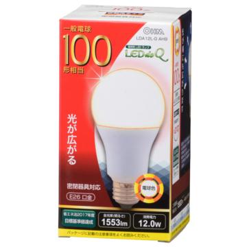 LED電球 一般電球形 100形相当 E26 電球色 [品番]06-0785