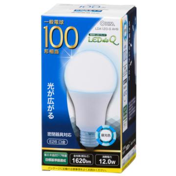 LED電球 100形相当 E26 昼光色 広配光 密閉器具対応 [品番]06-0786