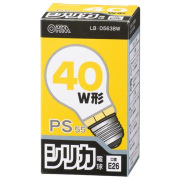 白熱電球 E26 40W ホワイト [品番]06-0640