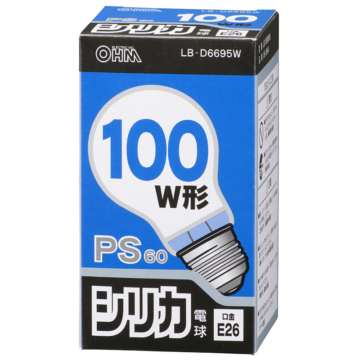 白熱球 100W相当 ホワイト E26 [品番]06-0644