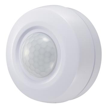 LEDプッシュセンサーライト 明暗・人感センサー付 白色 [品番]07-8932