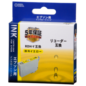 エプソン互換 リコーダー 顔料イエロー [品番]01-4311