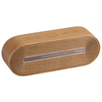 AudioComm ワイヤレススピーカー 木製 [品番]03-3181
