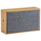 AudioComm ワイヤレススピーカー 木製・麻 ブルー [品番]03-3184