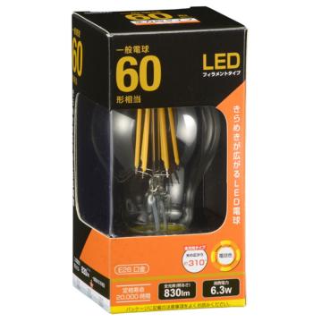 LED電球 フィラメント E26 60W相当 [品番]06-3463