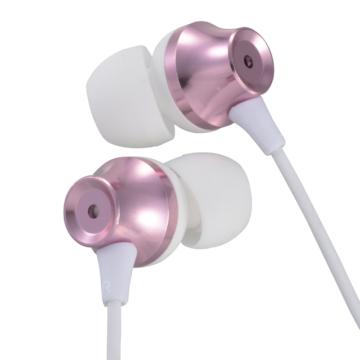 AudioComm ステレオイヤホン カナル型 ピンク [品番]03-2244