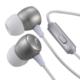 AudioComm ステレオイヤホン マイク付 シルバー [品番]03-2247