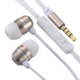 AudioComm ステレオイヤホン マイク・音量調節付 ゴールド [品番]03-2254