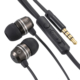 AudioComm ステレオイヤホン マイク・音量調節付 ブラック [品番]03-2256