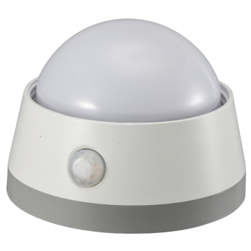 LEDセンサーライト 明暗+人感センサー付 白色LED [品番]06-0129