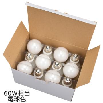LED電球 E26 60形相当 電球色 全方向 密閉器具対応 12個入 [品番]06-0699