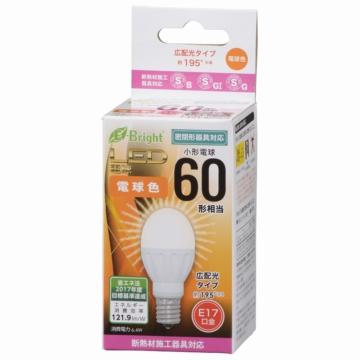 LED電球 小形 E17 60形相当 電球色 [品番]06-0717
