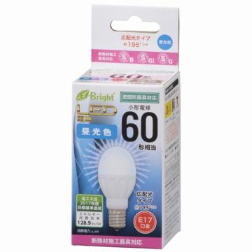LED電球 小形 E17 60形相当 昼光色 [品番]06-0718