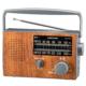 AudioComm ポータブル木目調ラジオ [品番]07-8959