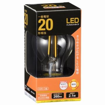 LED電球 フィラメント E26 20形相当 [品番]06-3461
