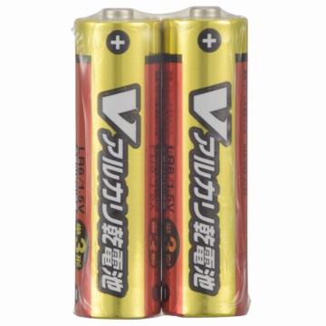 Vアルカリ乾電池 単3形 2本パック [品番]07-9960