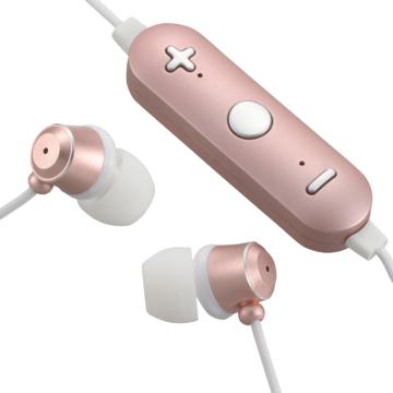 AudioComm Bluetoothステレオイヤホン ピンク [品番]03-1680