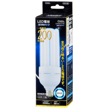 LED電球 D形 E26 200W形相当 昼光色 [品番]06-0200