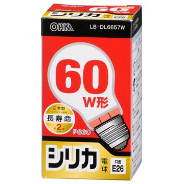 白熱電球 E26 60W形相当 シリカ 長寿命 [品番]06-0554
