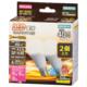 LED電球 ミニクリプトン形 E17 40形相当 防雨タイプ 電球色 2個入 [品番]06-1889