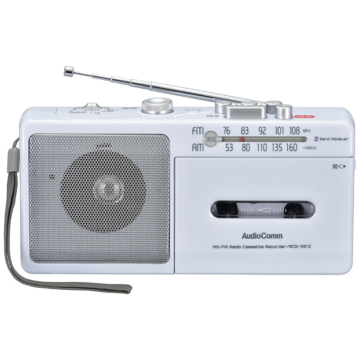 AudioComm ラジカセ AM/FM [品番]07-8378
