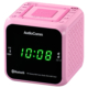 AudioComm クロックラジオ Bluetooth対応 ピンク [品番]07-8965