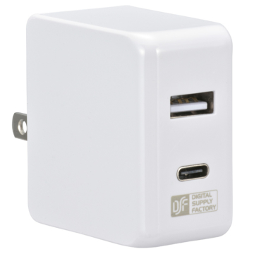 ACアダプター USB Type-C+Type-A [品番]01-3743
