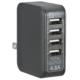 ACアダプター USB電源タップ 4ポート ブラック [品番]01-3746