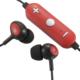 AudioComm ワイヤレスイヤホン コントローラー付 レッド [品番]03-0340