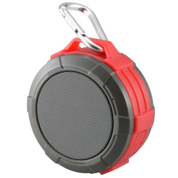 AudioComm Bluetooth ワイヤレスアウトドアスピーカー レッド [品番]03-3108