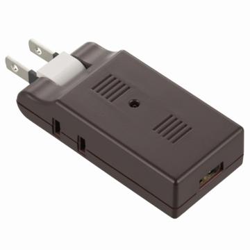 USB電源タップ 雷ガード USB1個口+AC2個口 ブラウン [品番]00-5043
