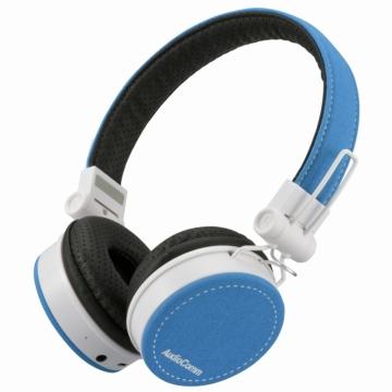 AudioComm Bluetoothステレオヘッドホン ブルー [品番]03-1695