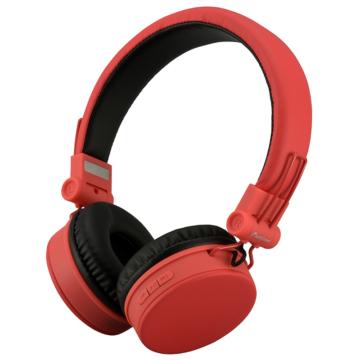 AudioComm ワイヤレスヘッドホン レッド [品番]03-2863