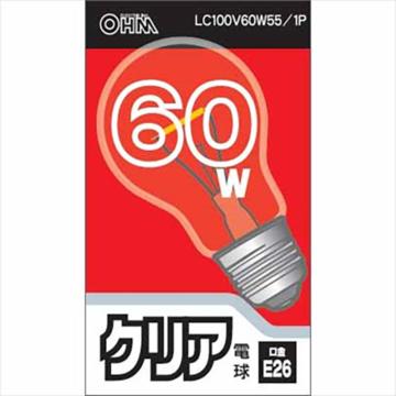 白熱電球 E26 60W クリア [品番]06-1752