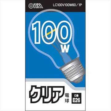 白熱電球 E26 100W クリア [品番]06-1753