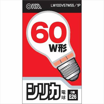 白熱電球 E26 60W形 ホワイト [品番]06-1756