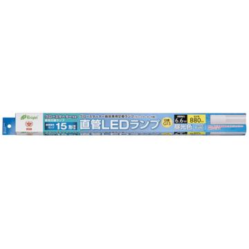 直管LEDランプ 15形相当 G13 昼光色 グロースタータ器具専用 [品番]06-0914