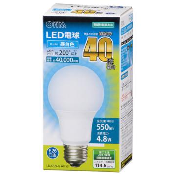 LED電球 E26 40形相当 昼白色 [品番]06-3082