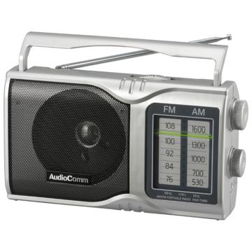AudioComm AM/FMポータブルラジオ [品番]03-0961