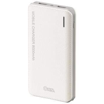 モバイルチャージャー 薄型8000mAhタイプ PSE適合品[品番]05-1185
