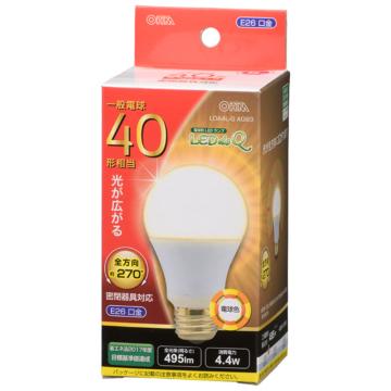 LED電球 E26 40形相当 全方向 電球色 [品番]06-3405