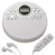 AudioComm ポータブルCDプレーヤー ホワイト [品番]07-8174