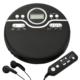 AudioComm ポータブルCDプレーヤー ブラック [品番]07-8175