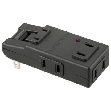 雷に強いマイクロタップ 4個口 黒 [品番]00-6959