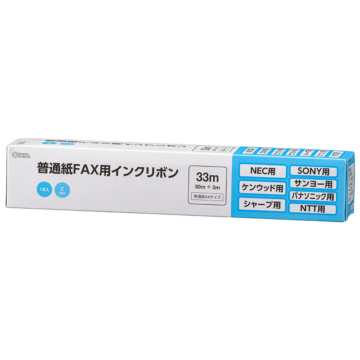 普通紙FAXインクリボン Cタイプ 1本入 33m [品番]01-3851