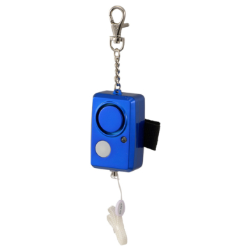 防犯ブザー LEDライト付 大音量95dB ブルー [品番]08-0961