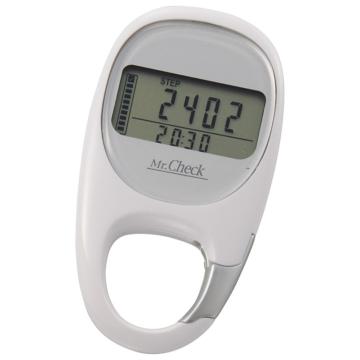3Dセンサー歩数計 ホワイト [品番]08-0017