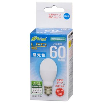 LED電球 小形 E17 60形相当 昼光色 [品番]06-3634