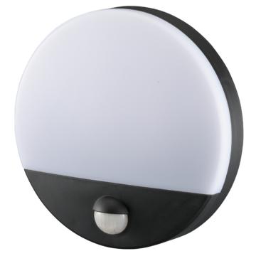 LEDセンサーウォールライト ドーム型 ブラック [品番]06-4217